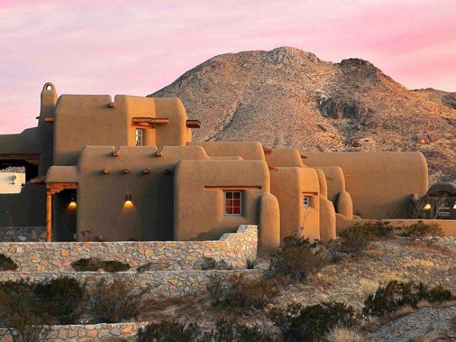 Maison couleur terre