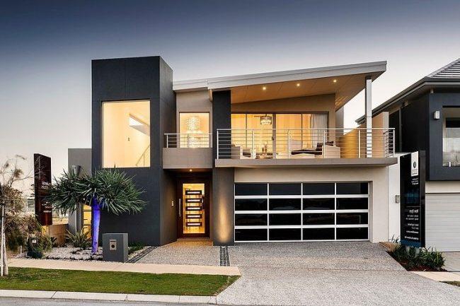maison minimaliste avec barres blanches
