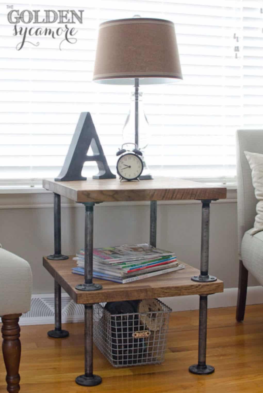 Table d'appoint industrielle | la tuyauterie | pinterest | diy möbel concernant la table d'accent de bricolage excitante de votre décor de maison