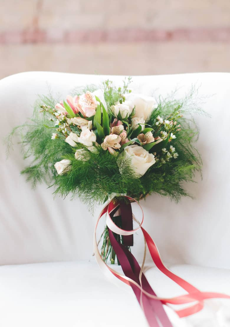 Bouquet de mariage abordable pour l'automne