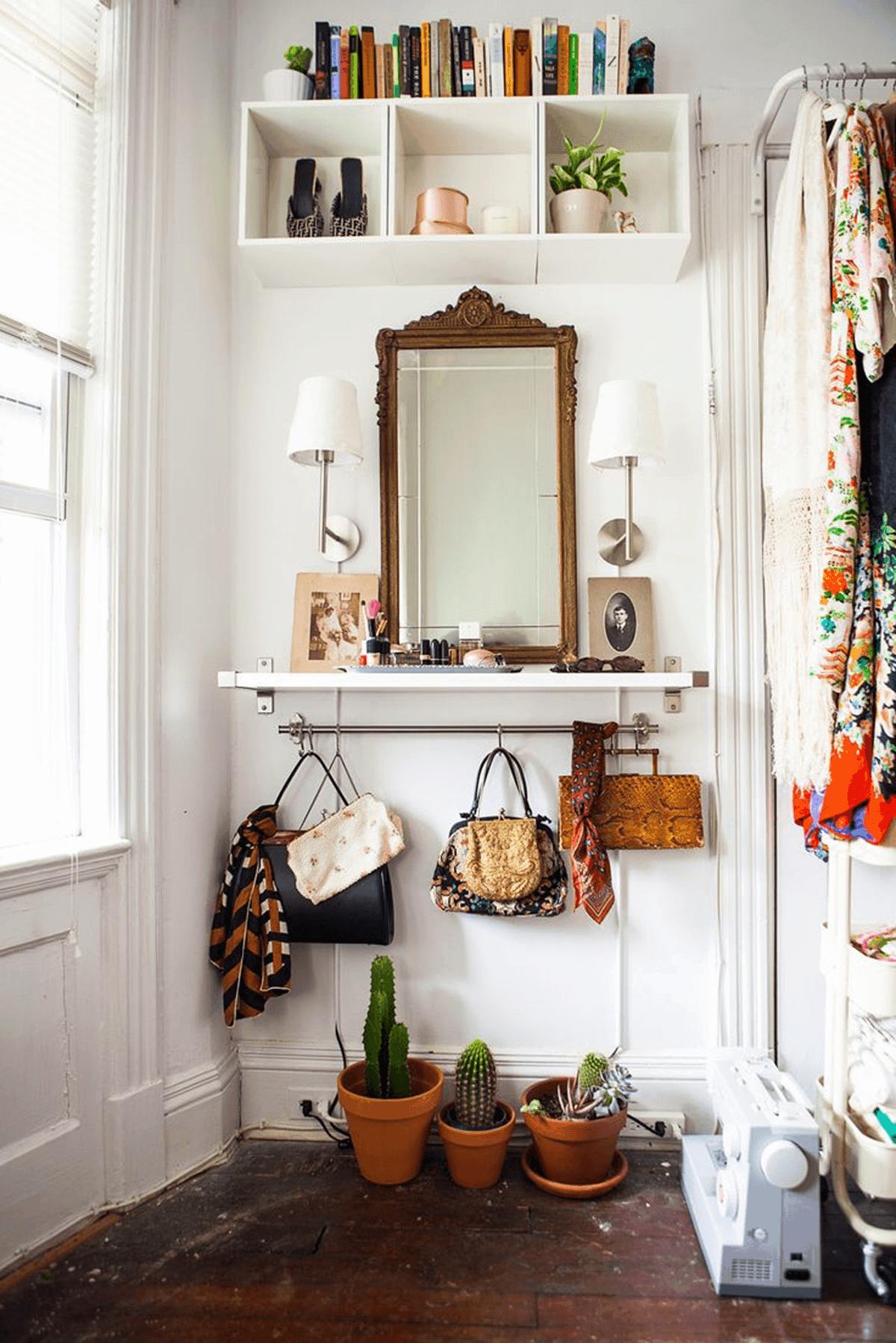 Foyer vintage éclectique