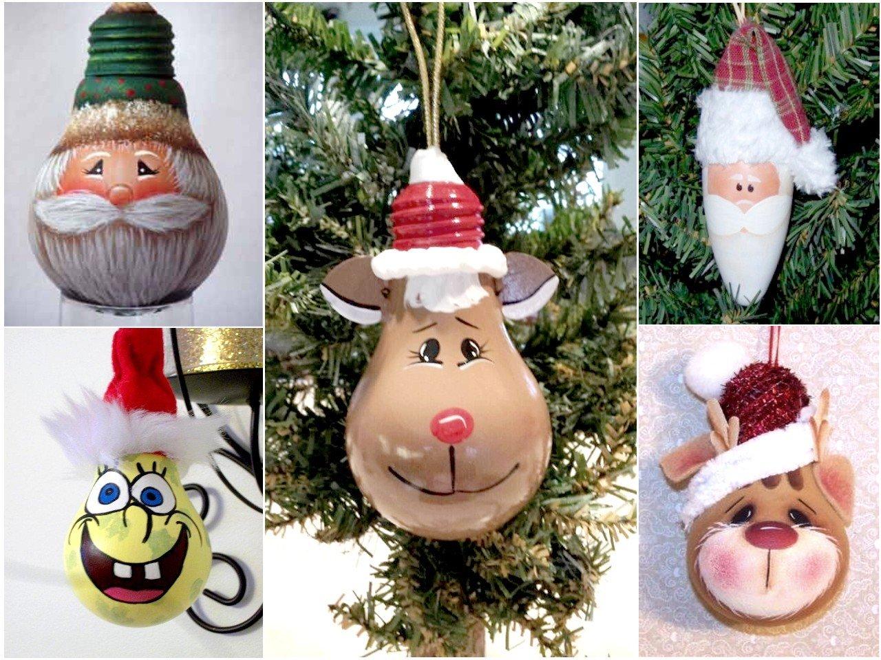 recycler les ampoules pour décorer à Noël