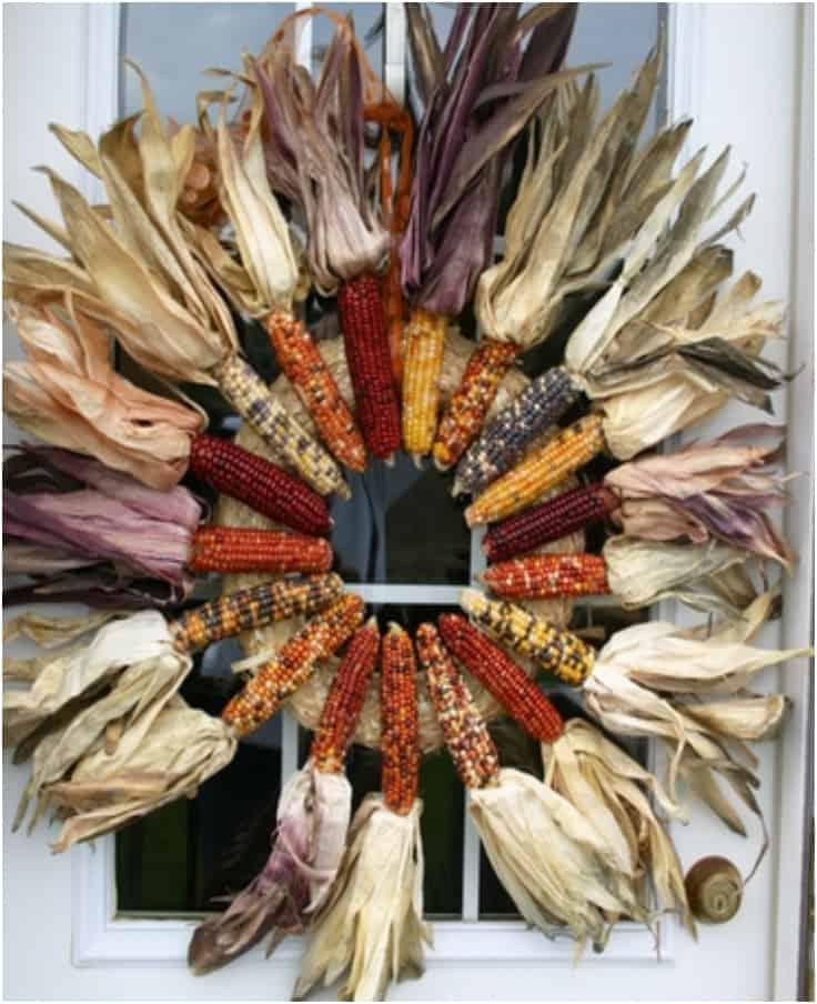 Couronne de thanksgiving de maïs indien
