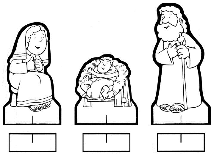 mangeoire à colorier - bébé Jésus