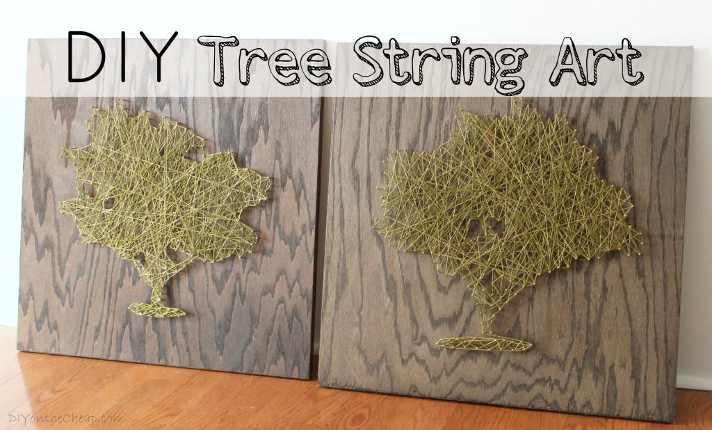 Art de ficelle arbre bricolage
