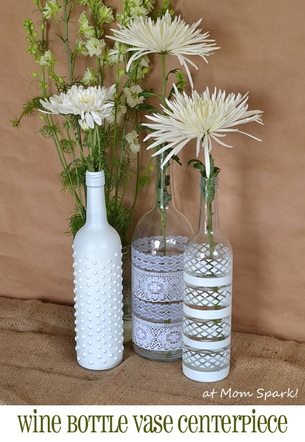 Jolis boho vases à fleurs bouteille de vin