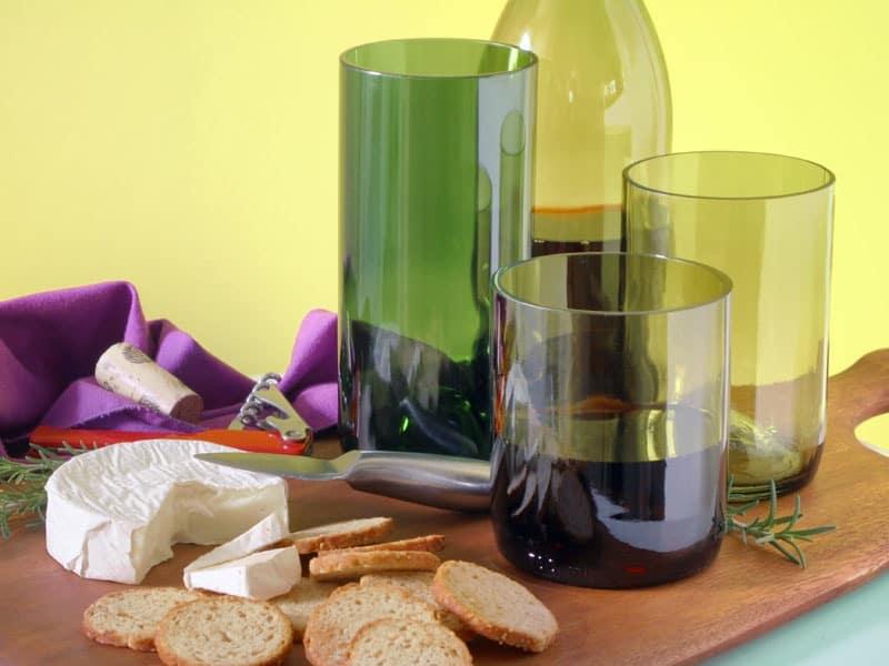 Gobelets bouteille de vin