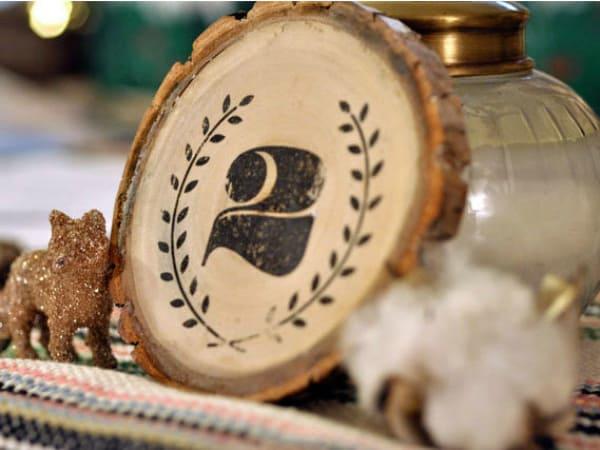 Numéros de table en bois vintage bricolage 2