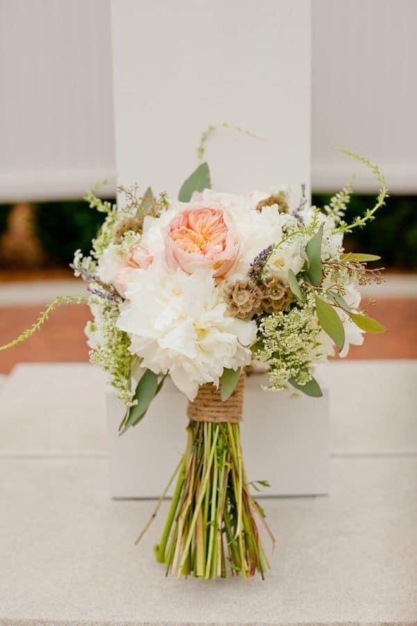 Bouquet de mariée rustique bricolage