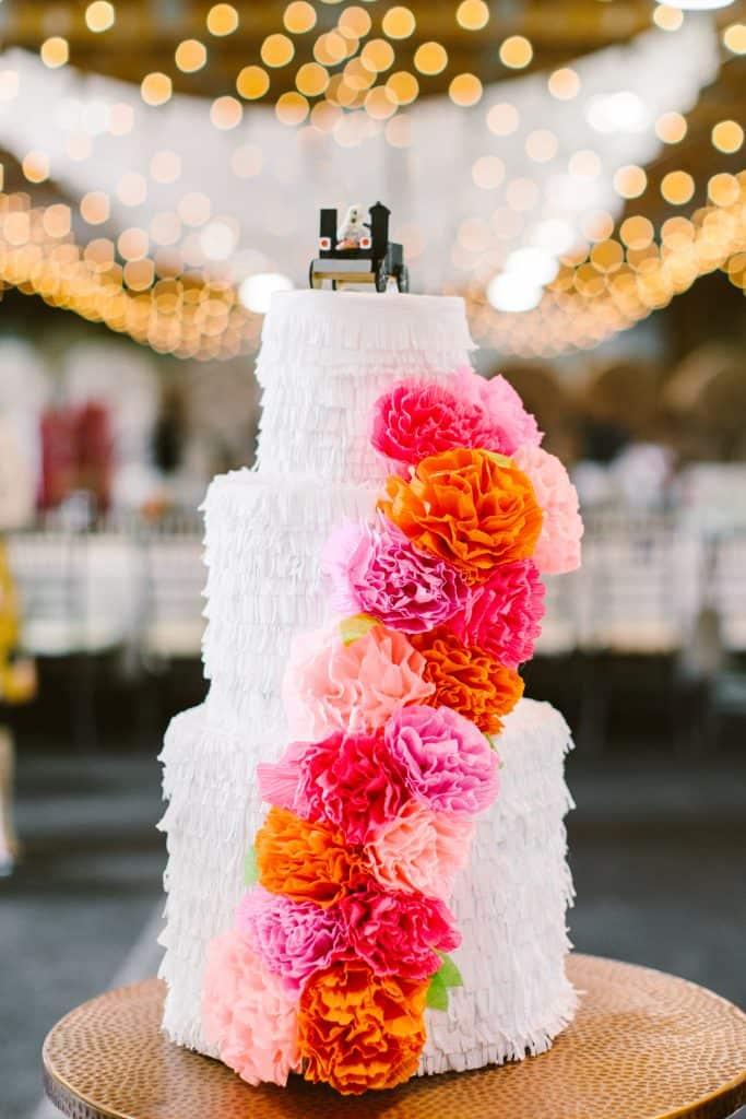 Gâteau de pinata de mariage bricolage