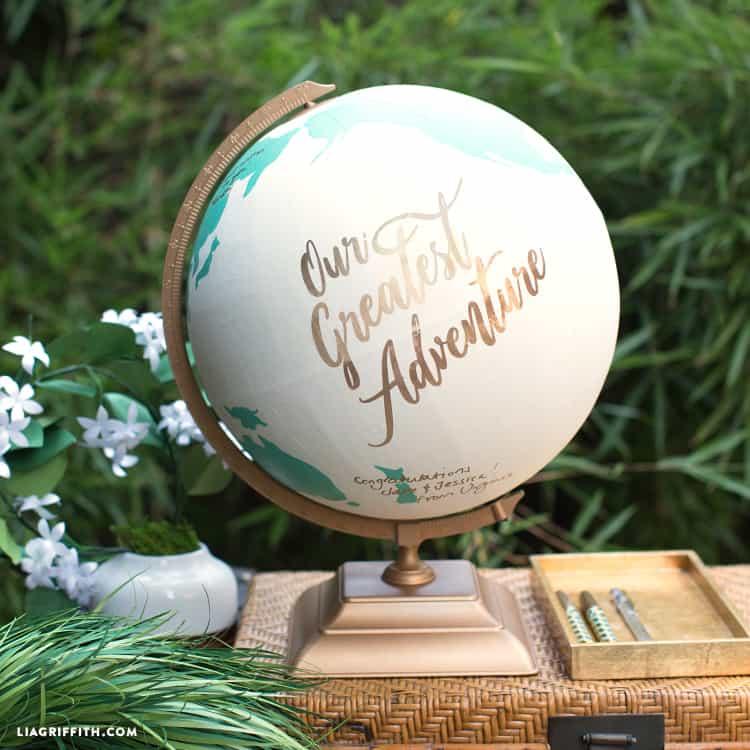 Diy globe livre d'or