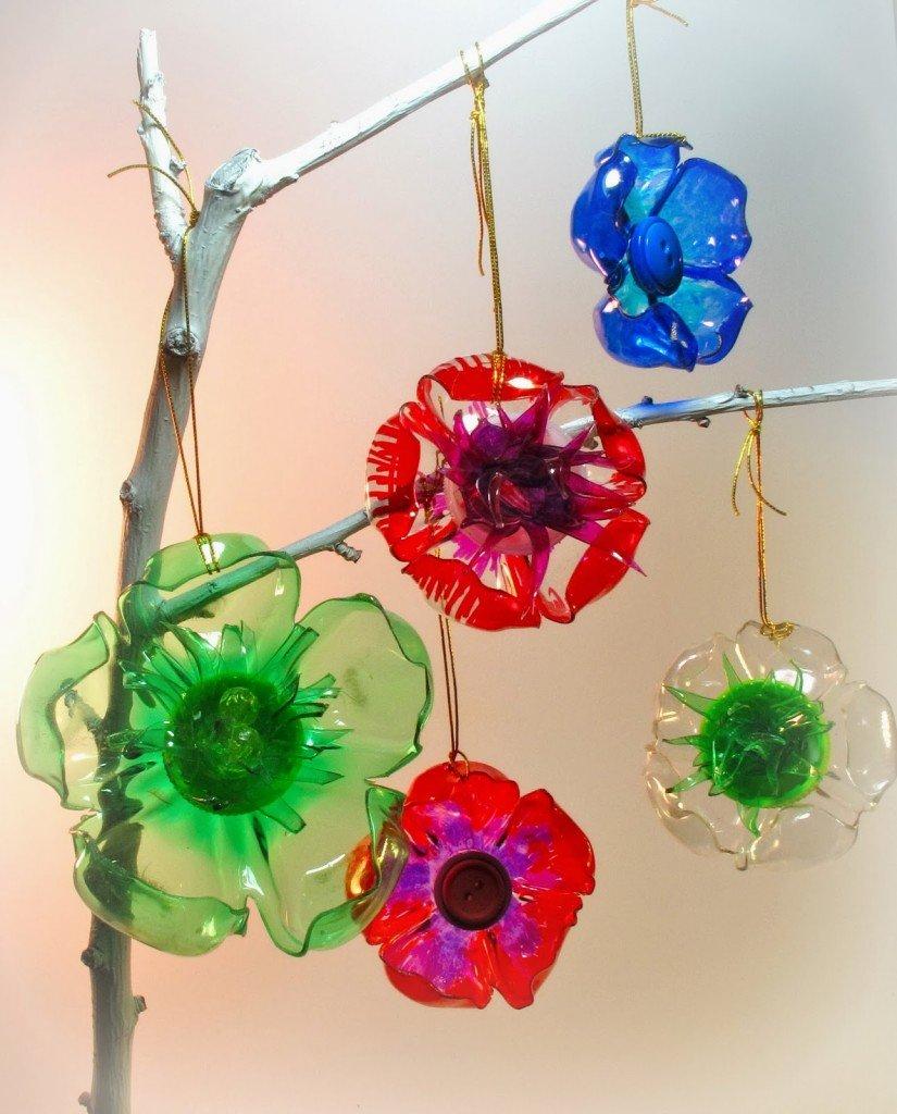 fleurs à décorer à Noël