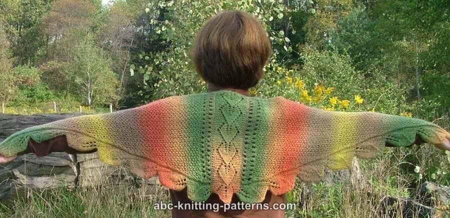 Feuilles d'automne petit châle triangle