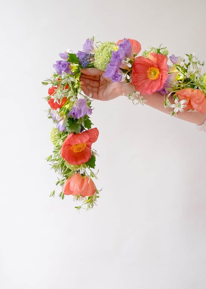Guirlande de fleurs de printemps bricolage