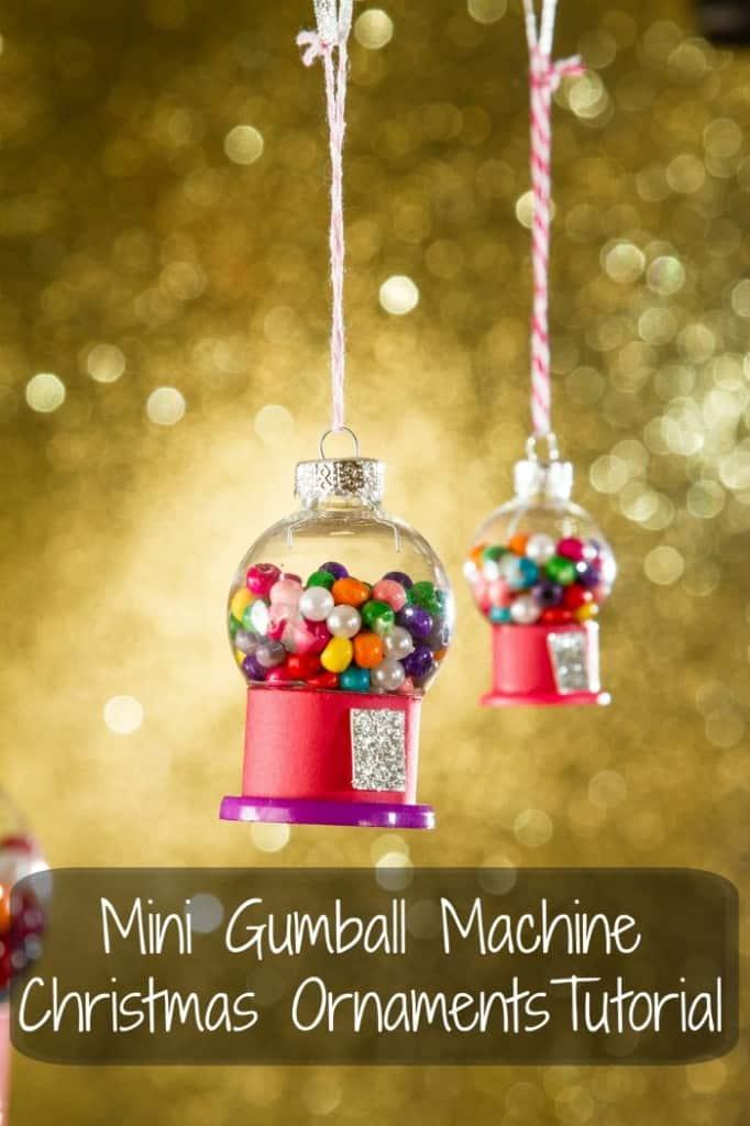 Ornamento di Natale Mini Gum Ball Machine