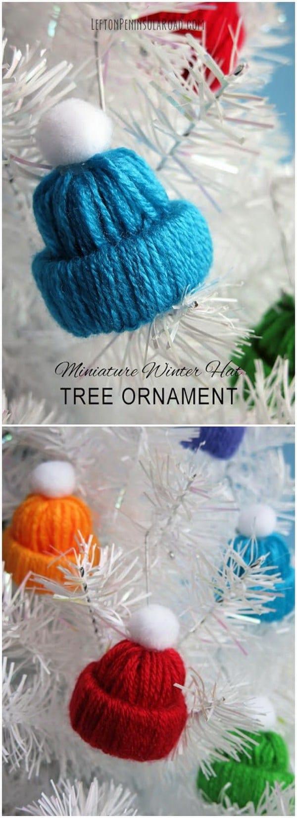Miniatura de iarnă Hat ornament'hiver miniature