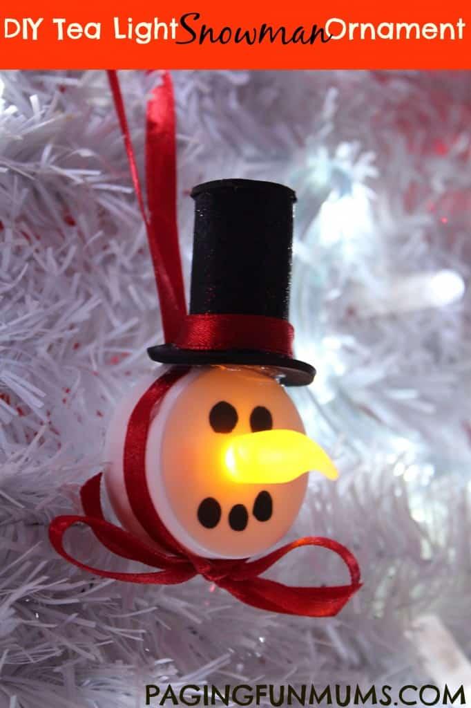 Decoratiuni de ceai Snowman
