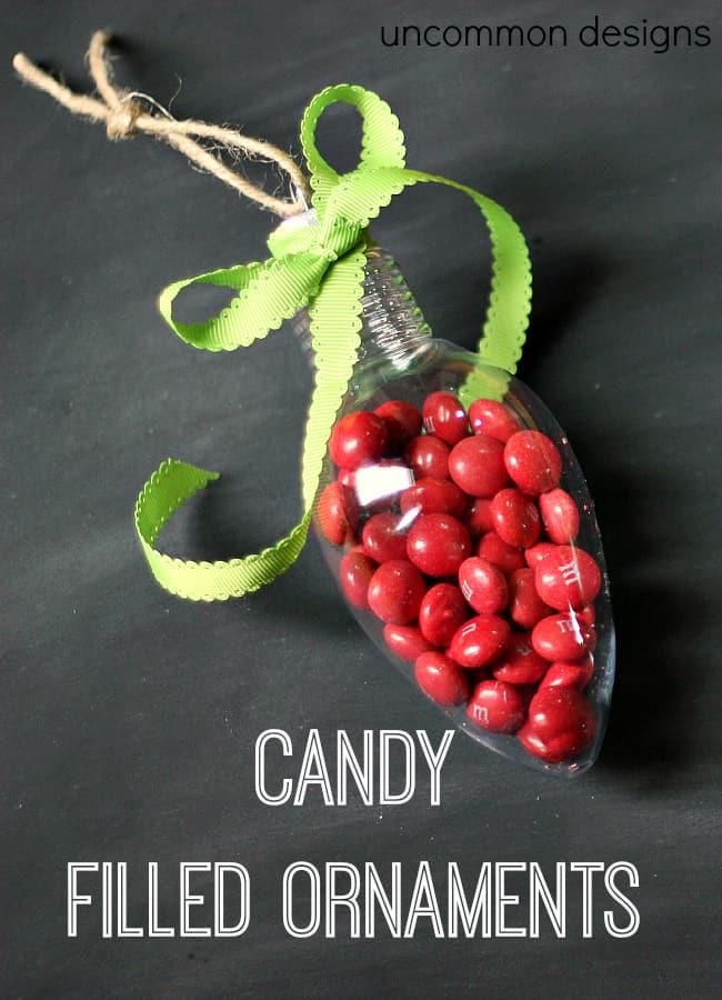 caramelle riempite con ornamenti'ornements