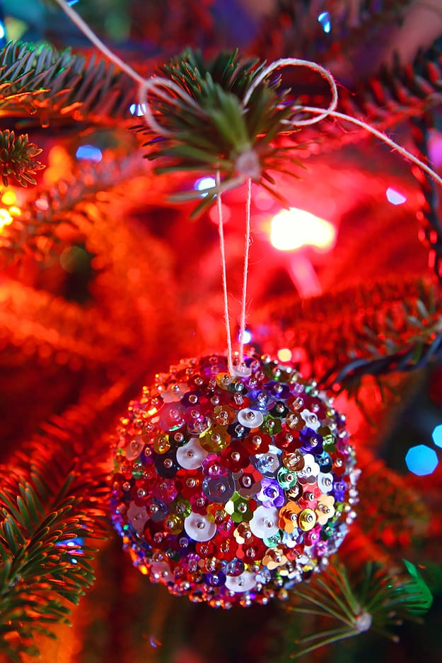 DIY Sparkling Glitter ornamente
