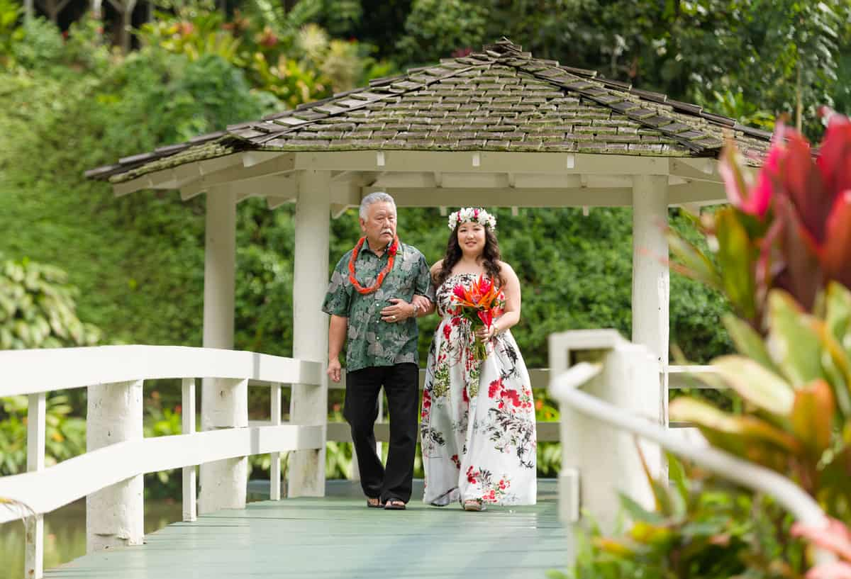 Lieu de mariage de jardin de Haiku