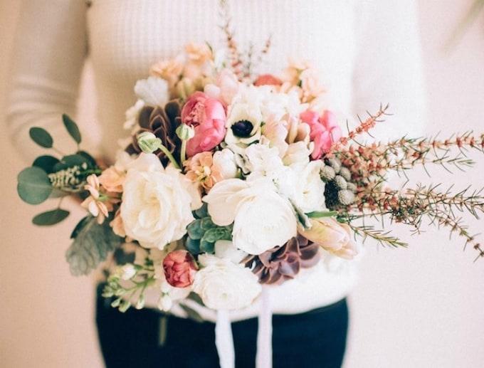 Bouquet de mariage ultra féminin
