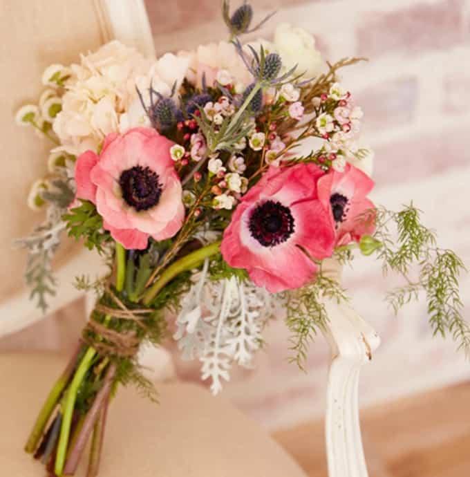 Bouquet de mariage de fleurs sauvages bricolage
