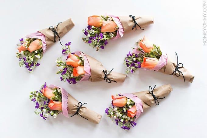 Petits bouquets de bricolage