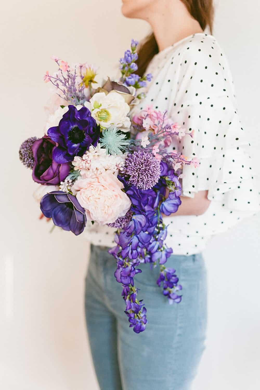 Bouquet de mariage violet violet