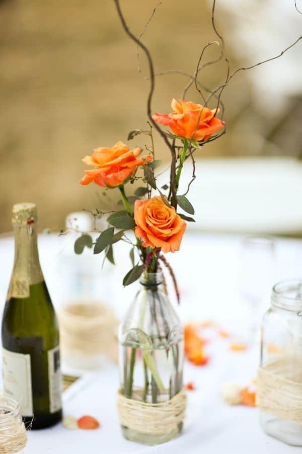 Automne roses oranges bricolage