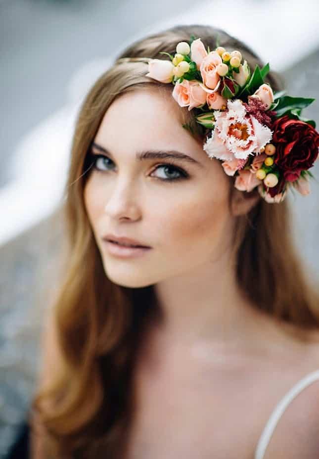 Diy couronne partielle de fleurs