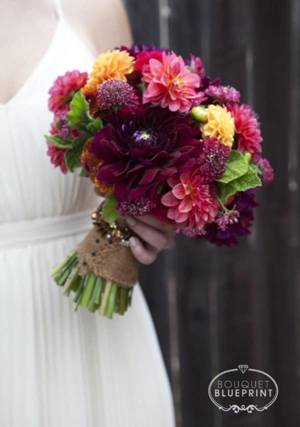 Bouquet de mariage riche automne bricolage