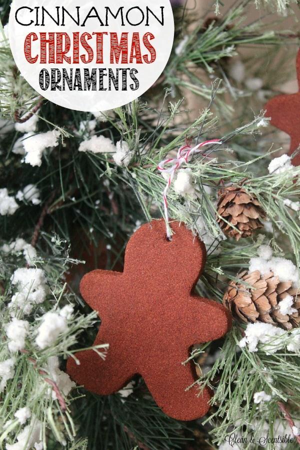 Cookie Cutter cannelle ornements de Noël