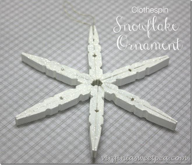 Ornement flocon de neige en épingle à linge