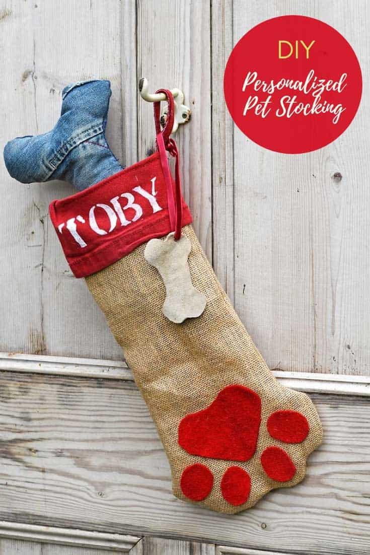Bas de Noël mignon pour chien