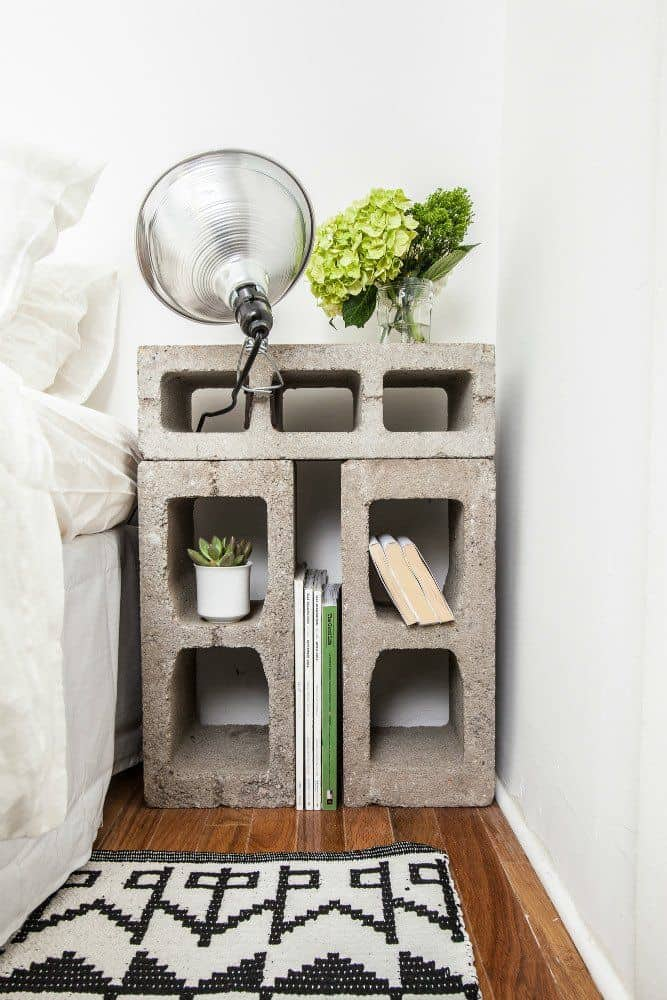 Briques nighstand bricolage