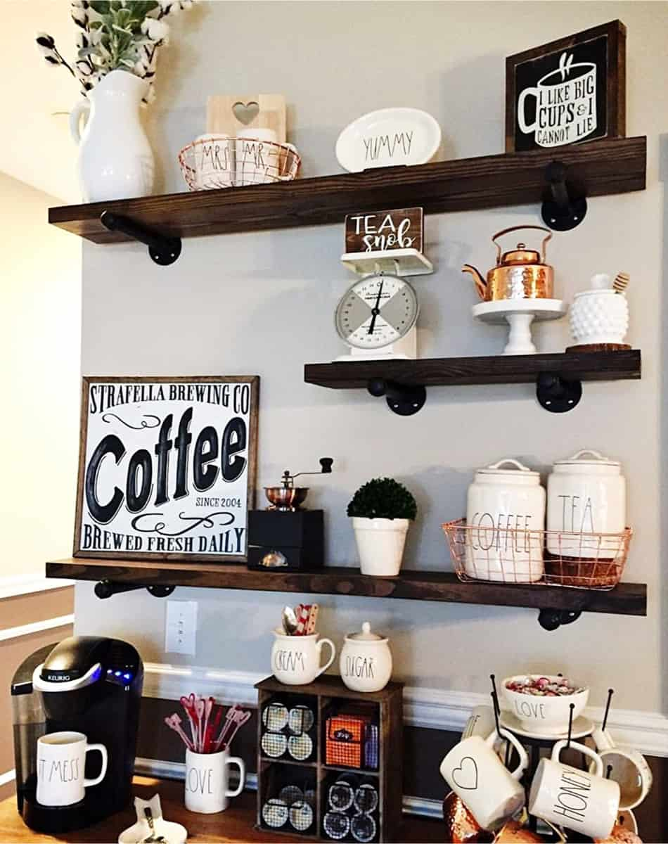Étagères café