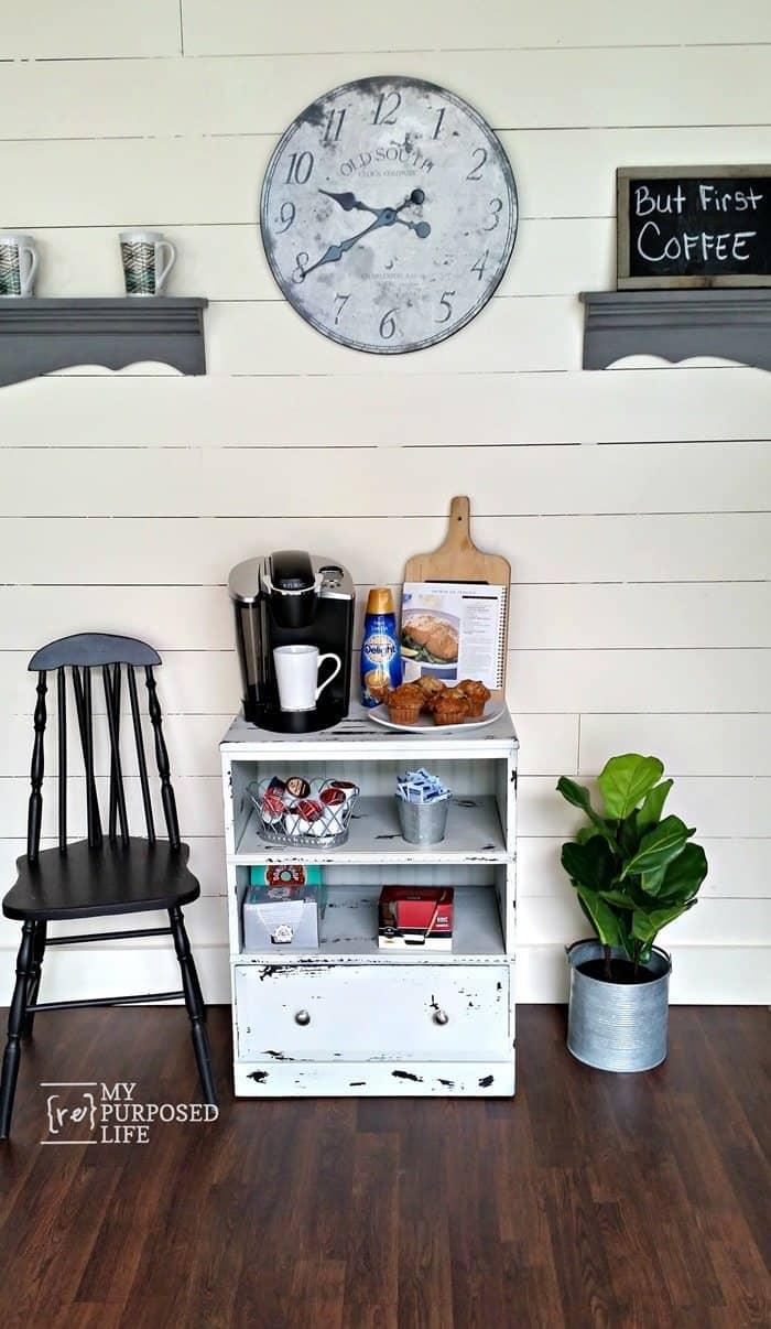 Station de café petite table de nuit réutilisée myrepurposedlife com