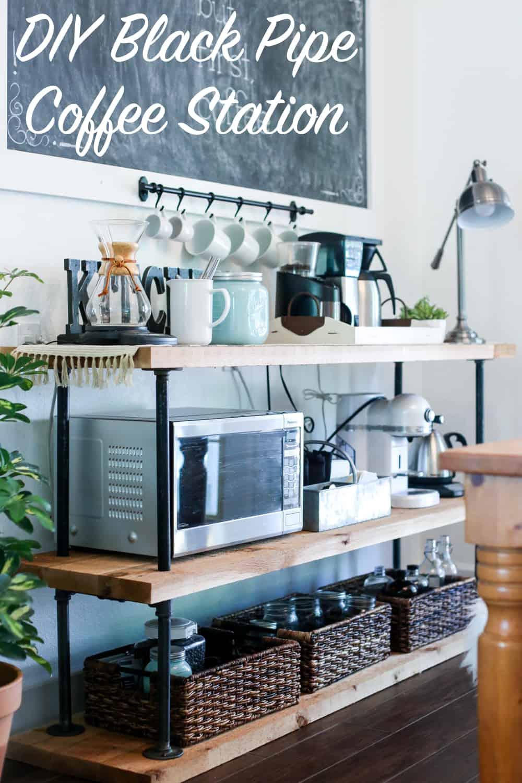 Station de café pipe noire bricolage