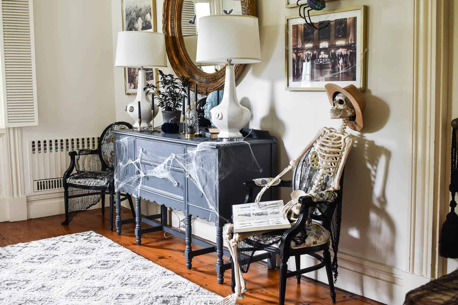 Décor d'inspiration halloween