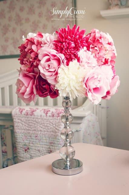 Abat jour floral poterie grange