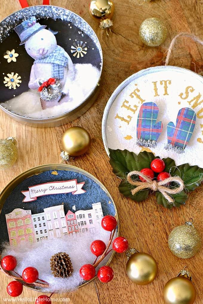 Décorations de Noël pour couvercle de bocal à vin Diy
