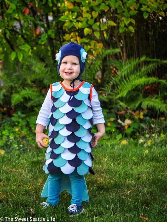 Costume de poisson tropical bricolage