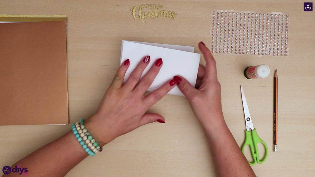 Carte de sapin de noël demi papier