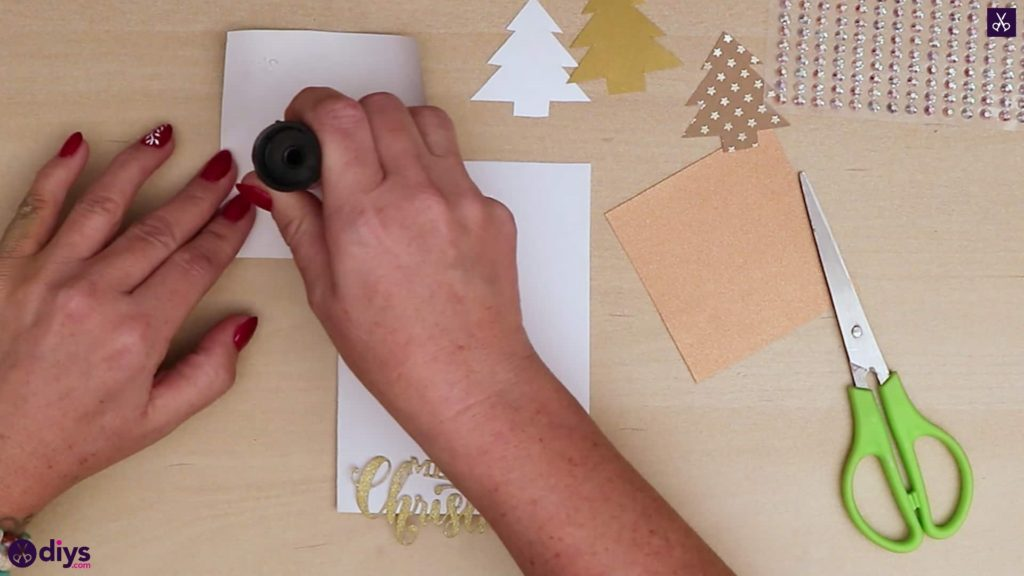 Timbre de carte de sapin de Noël