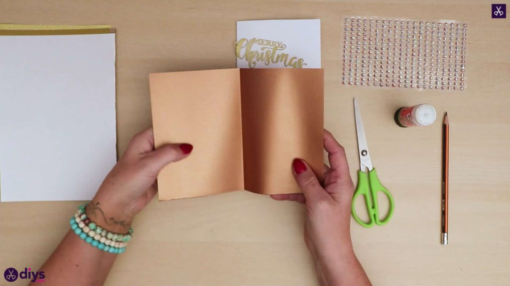 Papier d'or de carte de sapin de Noël bricolage