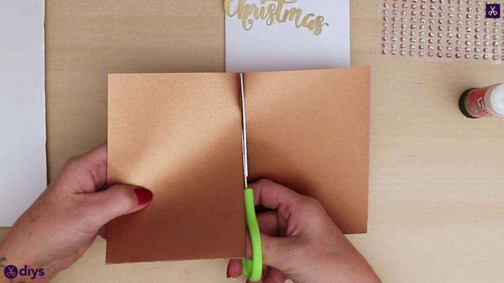 Carte de sapin de Noël bricolage coupée à moitié