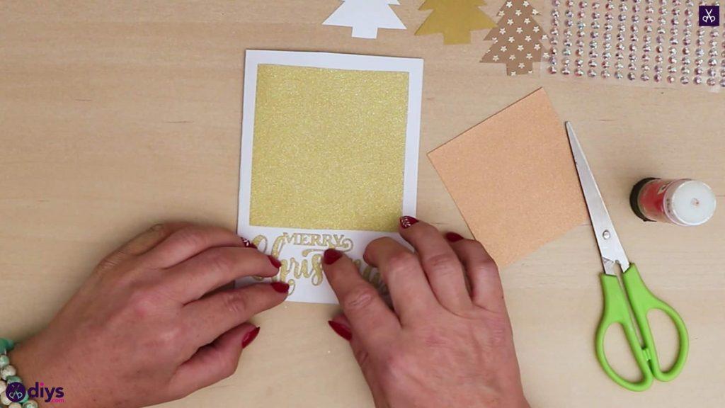 Arbre de carte de Noël bricolage