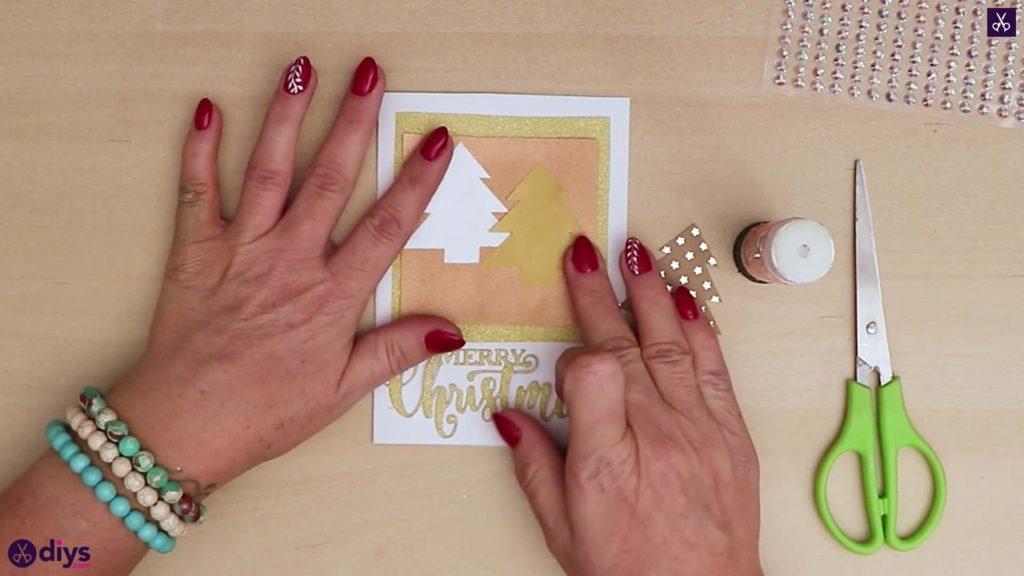 Diy carte de sapin de Noël