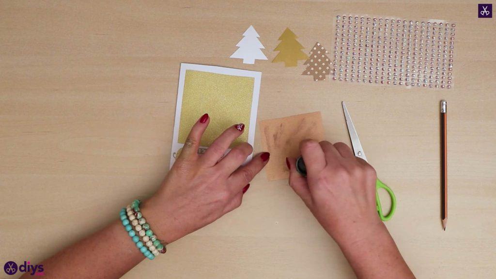 Carte de sapin de Noël bricolage plus sti
