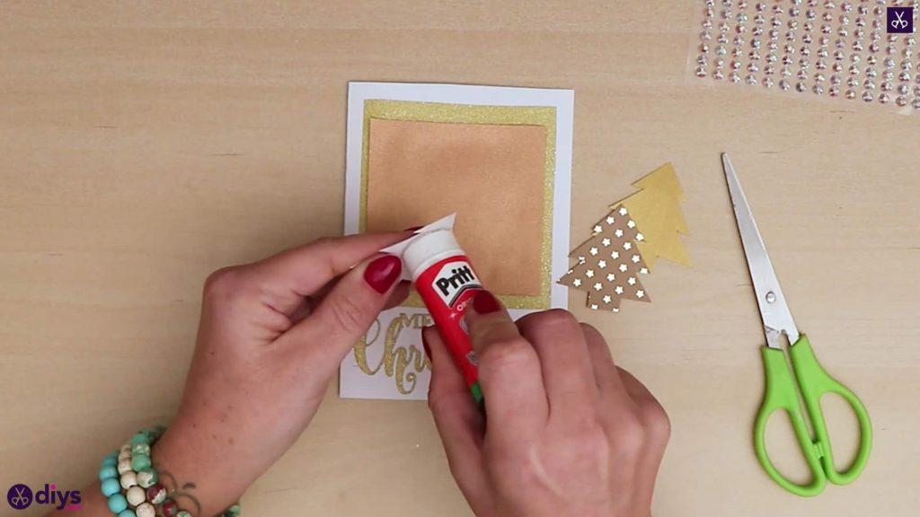 Arbres de colle de carte de sapin de Noël bricolage